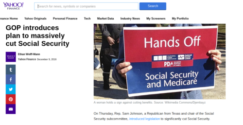 GOP introduces plan to massively cut Social Security