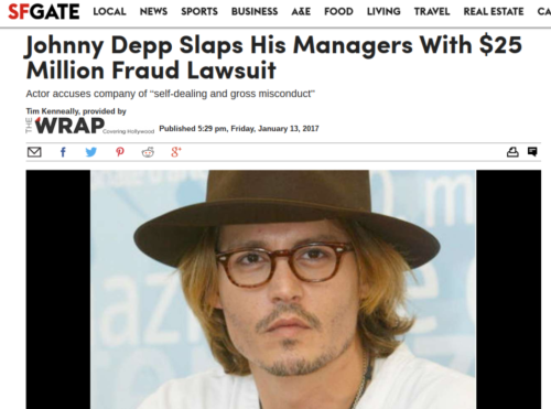 Johnny Depp Slaps His Managers With  25 Million Fraud Lawsuit   SFGate