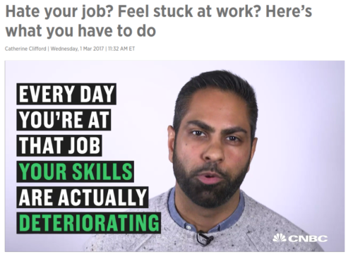 Hate your job  Feel stuck at work  Here's what you have to do