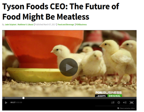 Tyson Foods CEO  The Future of Food Might Be Meatless   Fox Business