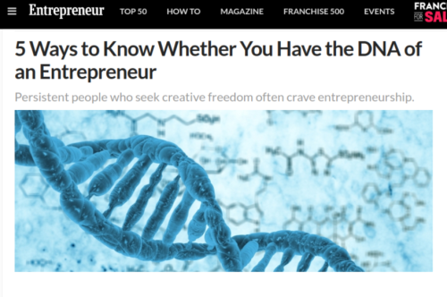5 Ways to Know Whether You Have the DNA of an Entrepreneur